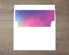 Colorful Watercolor Envelope Liner