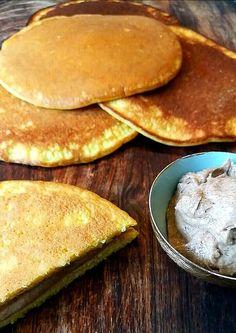 Tjukklefse med smørkrem – Kreativ Lavkarbo Cottage Cheese, Pesto, Pancakes, Breakfast, Food, Spinach, Creative, Morning Coffee, Essen
