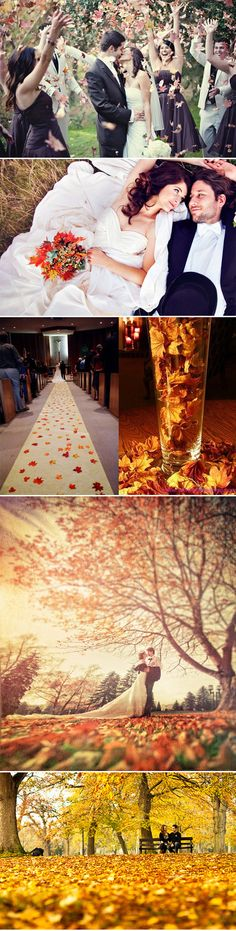 Autumn...throwing the leaves for the kiss pic is cute...
