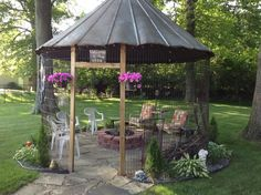 Porch swing fire pit swings around fire pit pergola fire pit gazebo