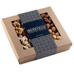 Authentic Happy Fathers Day, Gourmet Savory Nut Gift Box 1 Lb. By Benevelo Gifts, ,