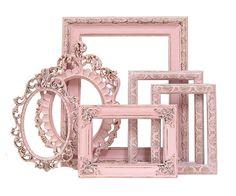 Shabby Chic Frames Pastel Pink Picture Frame Set Ornate Frames