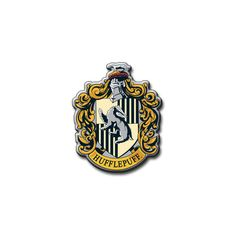 Hufflepuff Crest ❤ liked on Polyvore featuring harry potter, hogwarts, hufflepuff and filler