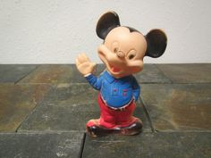 vintage  MICKEY MOUSE Rubber Squeeze Toy figure  * Bath Toy Walt Disney,  1960s by mauryscollectibles on Etsy