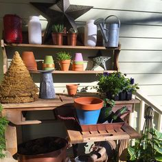 With just a handful of accessories, you can customize your own potting bench using a fold-out wood workbench. We have tons of ideas on how to organize it, set up shelves, and things to add features that will make it exactly what you need for your gardening. See it at The Home Depot's Garden Club.