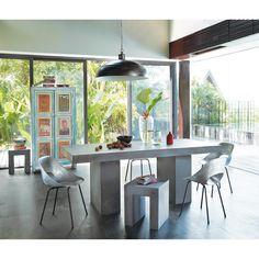 canapé clic-clac convertible capitonné 3 places blanc studio ... - Chaise Tulipe Maison Du Monde