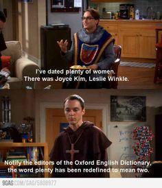 Sheldon trolling Leonard