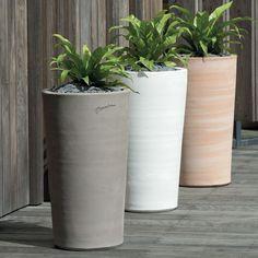 Vase haut sans bouche en terre cuite design contemporain poterie de jardin d coration - Jarre deco jardin lyon ...