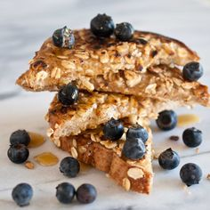 Wish I had this for breakfast! Coconut Oat French Toast (Dairy Free). (use gluten free bread for gluten-free)