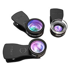 Mpow Fisheye Lens,3 in 1 Clip-On Lens Kits 180 Degree Fisheye Lens + 0.36X Wide Angle Lens + 20X Macro Lens with 3 Separate Lens for iPhone 7/6/6s Plus/5/SE Samsung S7/S6 HTC Huawei and Other Smartphone