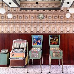 Wes Anderson designed a cafe. Pretty. Bar Luce, Milan