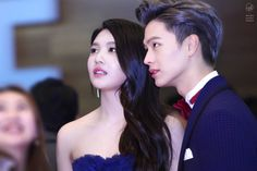 """When Red Velvet's Joy and BTOB's Sungjae appeared on """"We Got Married"""" fans were absolutely convinced they were actually in love. Sungjae And Joy, Sungjae Btob, We Got Married Couples, We Get Married, Kpop Couples, Celebrity Couples, Yongin, Red Velvet Joy, Park Sooyoung"""