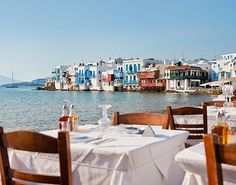 Little Venice...LOVE Mykonos!!! Such a great view from Little Venice especially at sunset!!