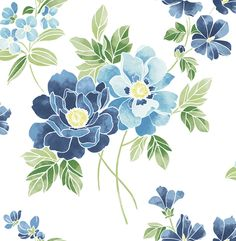 Claressa Blueberry Large Floral 2656-004064 wallpaper