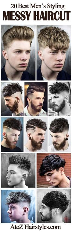 MESSY HAIRSTYLES: BEST MEN'S MESSY HAIRCUT & STYLING IT Men's messy hairstyles look can come from a variety of diverse looks and vary extensively.