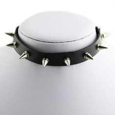 Personalized Silver Punk Spike Collar Gothic Leather Choker Necklace Cool B88U #Phoenix1900us #Choker