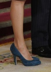 Magrit teal suede platform pumps. Debuted Oct 2014