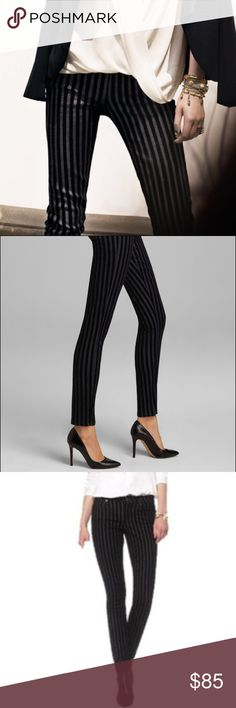 SALE!!! 🎉 PAIGE Verdugo Ultra Skinny Jeans 😍 PAIGE DENIM skinny cut Italian denim jeans are flocked with deep-hued stripes for eye-catching style in these flattering skinnies.  NEW & SEXY!!!  Zip fly with button closure. Five-pocket style.  Color: Flocked Velvet Stripe  Material: 60% Cotton/ 35% Nylon/ 4% Lycra/ 1% Elastane Origin & Care: Paige Jeans Jeans Skinny