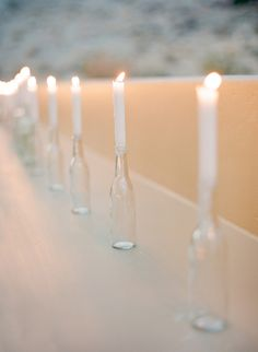 #candles Photography by josevillaphoto.com  Read more - http://www.stylemepretty.com/2012/12/10/joshua-tree-elopement-from-jose-villa-photography-kristeen-labrot-events/