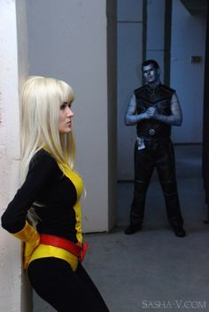 Once again another cosplay couple who know enough to sell the costumes for those snapping pictures.  I give you Peter and his Snowflake.  Well ok, Colossus and his kid sister (and former resident of hell) Majick (sp?)