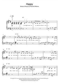 Pharrell Williams: Happy - Partition Piano Facile - Plus de 70.000 partitions à imprimer !