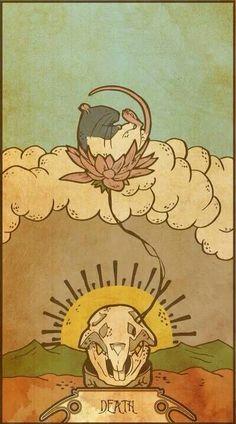 Muroidea Rat Tarot- Death Art Print by midio Illustrations, Illustration Art, Tarot Death, Vintage Tarot Cards, La Danse Macabre, Death Art, Tarot Major Arcana, Oracle Cards, Art Prints