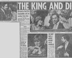 July Lady Diana Spencer sitting next to King Constantine of Greece watching John McEnroe versus Rod Frawley. Princess Diana Images, Princess Diana Family, Princess Charlotte, Princess Of Wales, Trivia Of The Day, Royal Engagement, Queen Mother, Lady Diana Spencer, First Photograph