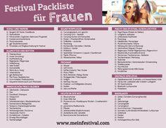Die Festivalsaison hat wieder begonnen! Mit unserer Festival Packliste für Frauen habt ihr an alles Wichtige gedacht!