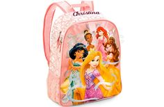 Transport all her royal needs in our regal Disney Princess Backpack. Rapunzel, Jasmine, Tiana, Ariel, and Belle will be with her wherever she goes with this fairytale essential! ** backpack does not include the personalized name.  To order: http://www.shopaholic.com.ph/#!/Disney-Princess-Backpack/p/44549384