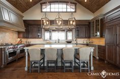 Stunning Kitchen in Park City, Utah by Cameo Homes Inc.