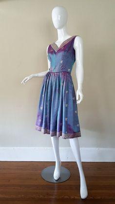 7ae13a4228 Vintage 50s Dress   50s Saree Dress   50s by RhetoricalSituation Saree Dress