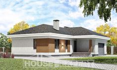 One Story House Plans with garage in front, small Home Plans, House Expert Garage House Plans, One Story Homes, Story House, Shed, Construction, Outdoor Structures, How To Plan, Villa, Outdoor Decor