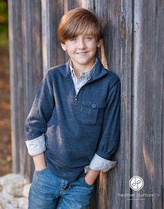 Kids fall portraits, portrait of a young boy. Birmingham Alabama photographer.  http://www.heatherdurhamphotography.com