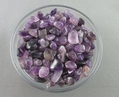 Amethyst Chips 1/4 lb XS Undrilled  - Protection Stone, Healing Crystals, Polished Stone Chips, Chakra Stones, Craft Supply (T261)