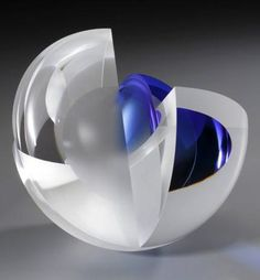 Martin Rosol - Blue Orbit. Born June 7, 1956 in Prague Martin Rosol came to the United States in 1988 to pursue his career as a sculptor, a path unavailable to him in Czechoslovakia before Vaclav Havel and Velvet Revolution transformed the country.Rosol, like many Czech glassworkers, learned his trade in a Company school set up to train craftsmen to execute limited edition designs for art glass manufacturers. This and more contemporary art for sale on CuratorsEye.com