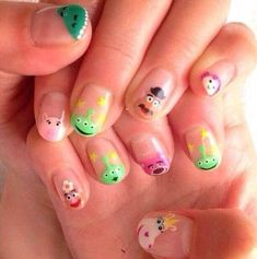 Nails Gel Art Fingers 38 Best Ideas Many women prefer to go to the hairdresser even when they don't have … Cute Nail Art, Gel Nail Art, Nail Manicure, Cute Nails, Pretty Nails, Toy Story Nails, Disney Nails, Nagel Gel, Nail Decorations