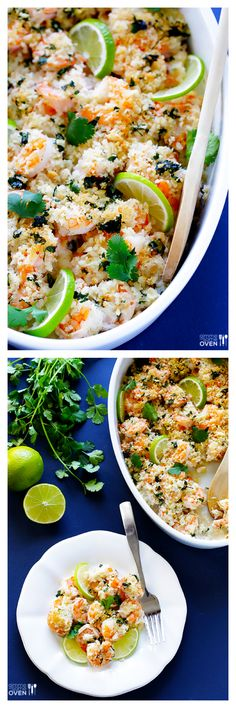 Cilantro Lime Baked Shrimp ~ easy, healthier, delicious, and ready to go in 30 minutes!