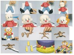 A very nice tutorial to make a lovely little clown. And a monkey and a bowling ... An idea of what to give a more tender cake fondant, hope you:BY http://es.paperblog.com/modelado-de-payaso-para-tartas-fondant-1633954/