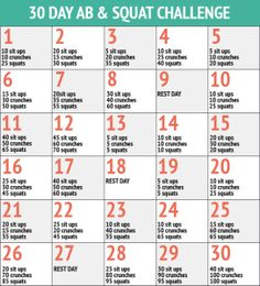 The 30 Day Squat and Ab Challenge - Healthy Life Focus