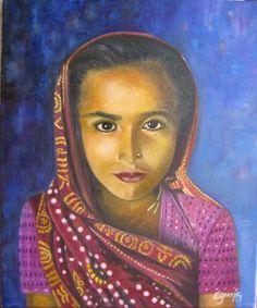 Homenaje a  Steve McCurry. Oleo sobre lienzo