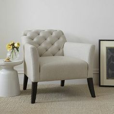 Chair that I've been drooling over at West Elm. Would be perfect for the special place I made for it after re-organizing the bedroom.