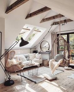 neutral boho living room neutrales Boho Wohnzimmer Related posts: No related posts. Room Interior, Interior Design Living Room, Living Room Designs, Luxury Interior, Attic Bedroom Designs, Bohemian Interior Design, Interior Photo, Interior Modern, Modern Luxury