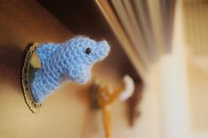 Miniature Crochet Unicorn Head Taxidermy by MyBackyardMonsters, for sale now on Etsy at $15.00!