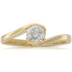 18ct yellow gold .50ct diamond solitaire engagement ring