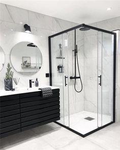 Most popular ways to elegant bathroom design trends 26 – fugar Modern Luxury Bathroom, Bathroom Design Luxury, Minimalist Bathroom, Bathroom Layout, Modern Bathroom Design, Bathroom Goals, Bathroom Ideas, Small Bathroom Decorating, Modern Marble Bathroom