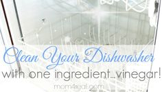 Get a Super Clean Dishwasher with Vinegar! - Mom 4 Real