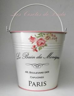 Les Cosetes de Dudu: junio 2014 Decoupage Art, Decoupage Vintage, Tin Can Crafts, Diy Arts And Crafts, Altered Tins, Milk Cans, Valentines Diy, Design Crafts, Painting On Wood