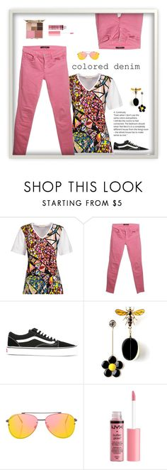 """""""Cheerful"""" by patricia-dimmick ❤ liked on Polyvore featuring Emilio Pucci, J Brand, Vans, Topshop, Charlotte Russe, Stila and coloredjeans"""
