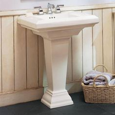 American Standard Town Square Pedestal Combo Bathroom Sink in White-0790.800.020 at The Home Depot