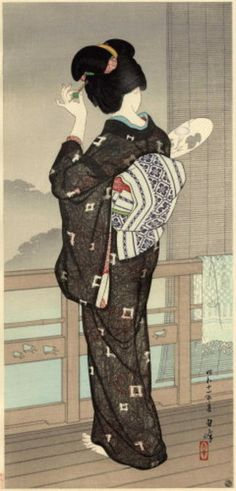 Hakuho Hirano (1879-1957)  Born in Kyoto, Hirano Hakuho studied ukiyo-e painting as a youth and was primarily self taught. Unfortunately, little is known about his life. In the early 1930's, he collaborated with the publisherWatanabe Shozaburo, designing at least six prints. Two of these prints were shown at the 1936 Toledo exhibition.  http://www.hanga.com/bio.cfm?ID=38